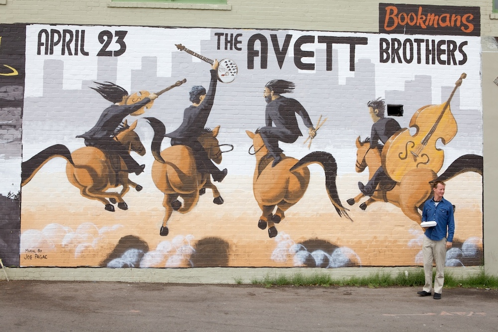 The Avett Brothers Mural by Joe Pagac - Tucson, AZ