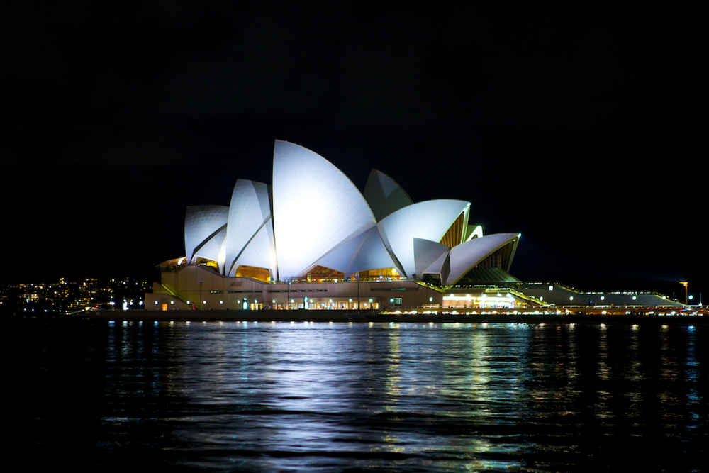 The Sydney Opera House by night - Sydney, Australia