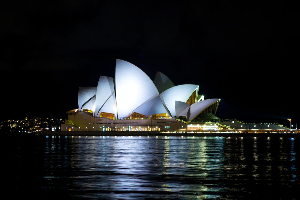 The Sydney Opera House by night - Sydney, Australia