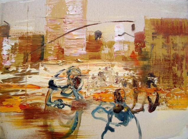 NYC, 2009 30 x 40 cm, Öl auf Leinwand Wolfgang Tietze