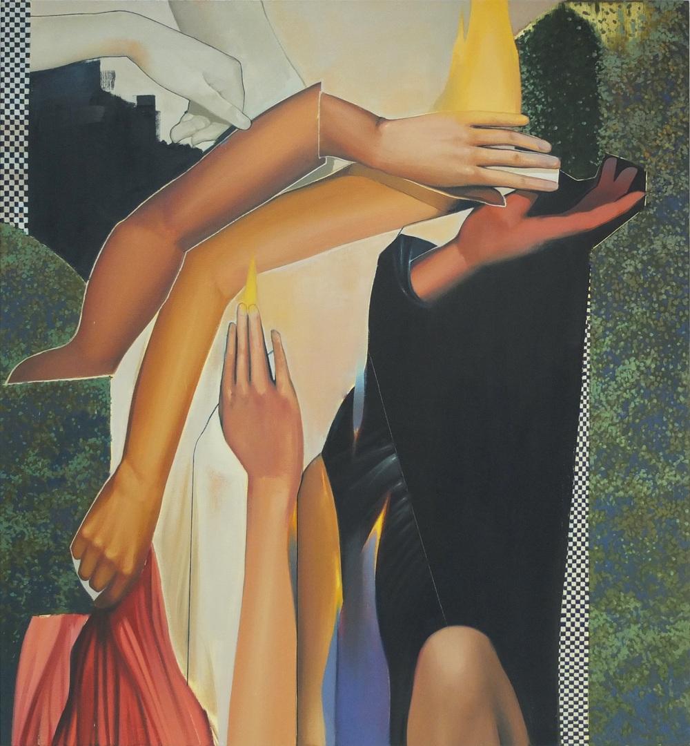 Sebastian Menzke hitzt, 140 x 130 cm, Öl auf Leinwand, 2015 Besichtigung vom 19. März - 24- April in der Kunsthalle Kühlungsborn Vorankauf möglich! Preisauskunft