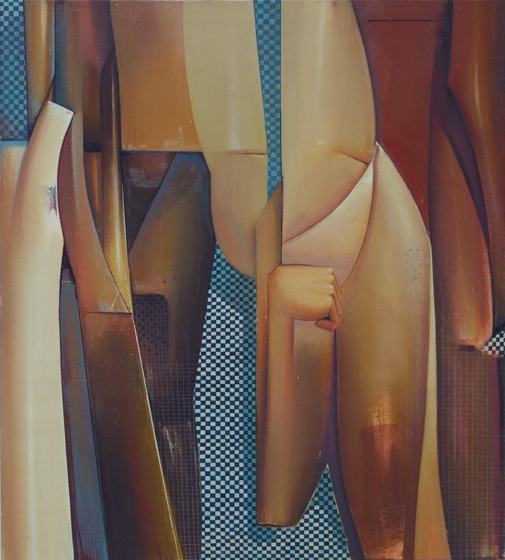 Sebastian Menzke rannt 2 100x90cm,Öl auf Leinwand, 2015 verfügbar, Besichtigung in der Galerie Tristan Lorenz,Frankfurt am Main Preisauskunft