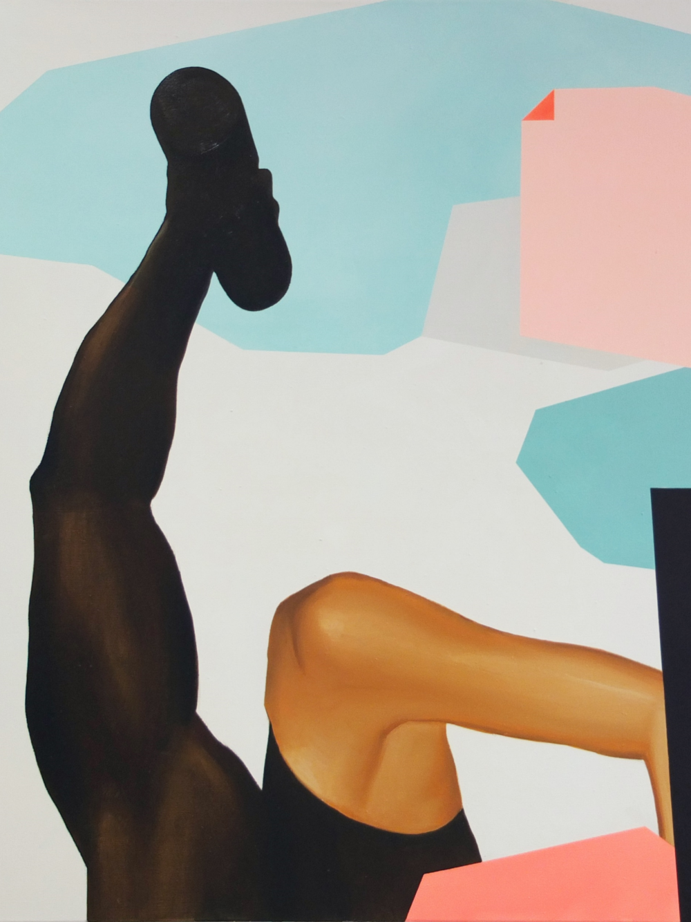 SEBASTIAN MENZKE high low , Öl auf Leinwand,100 x 90 cm, 2016