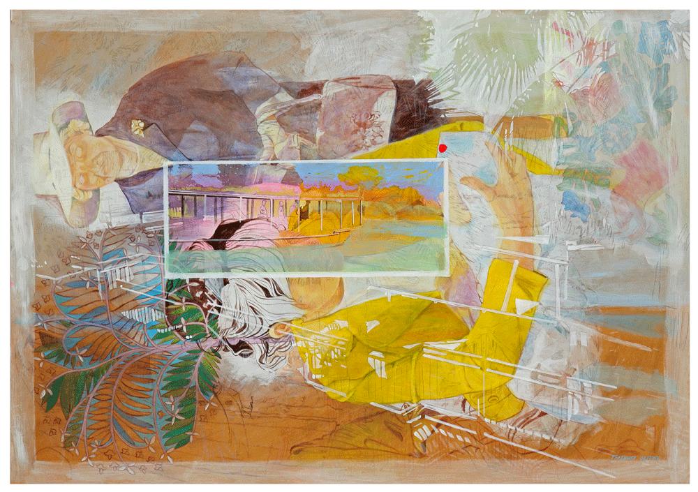 """""""der Milchmann 01"""" – 2012 – Acryl auf Holz – 70x 100 cm"""