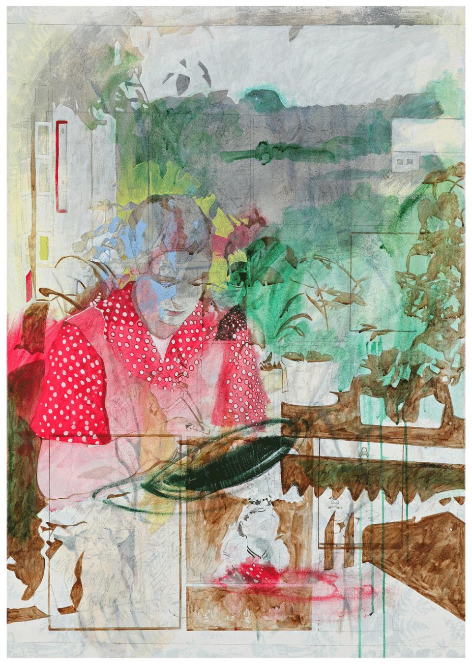 """""""unser täglich 01"""" – 2013 – Acryl auf Leinwand – 115 x 80 cm"""