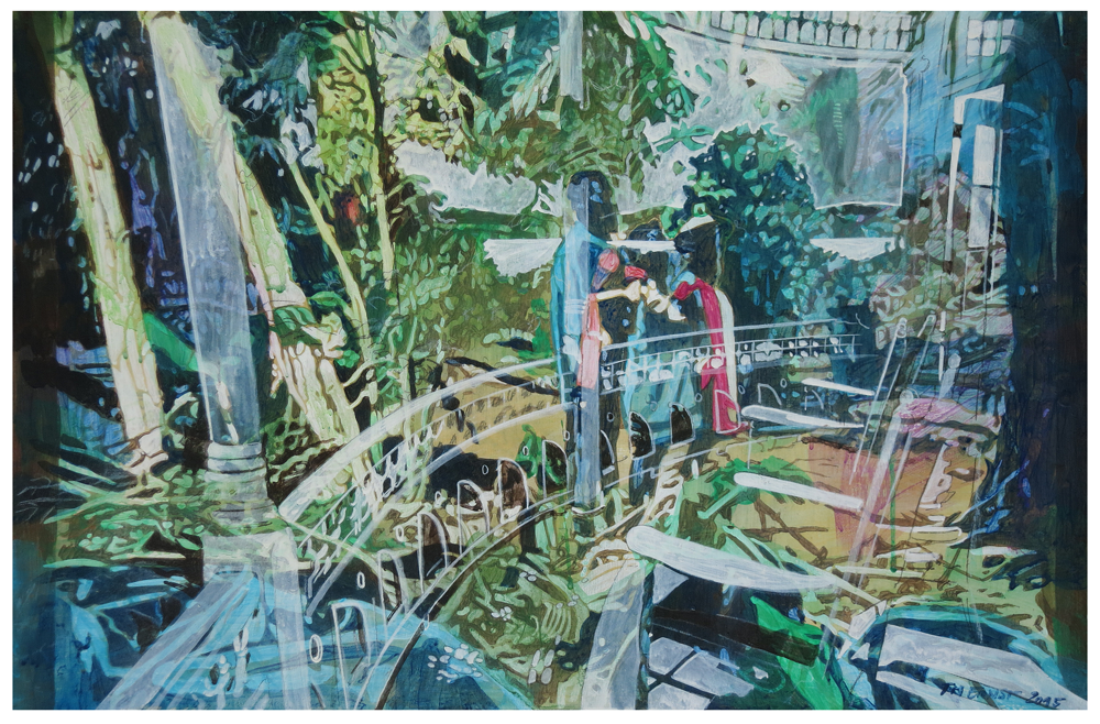 veranda 02 – Eitempera auf Kreidegrund auf Holzrahmen, 40 x 61 cm, 2015