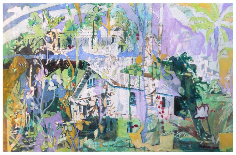 eskorte 02 – Eitempera auf Kreidegrund auf Holz, 40 x 61 cm, 2015