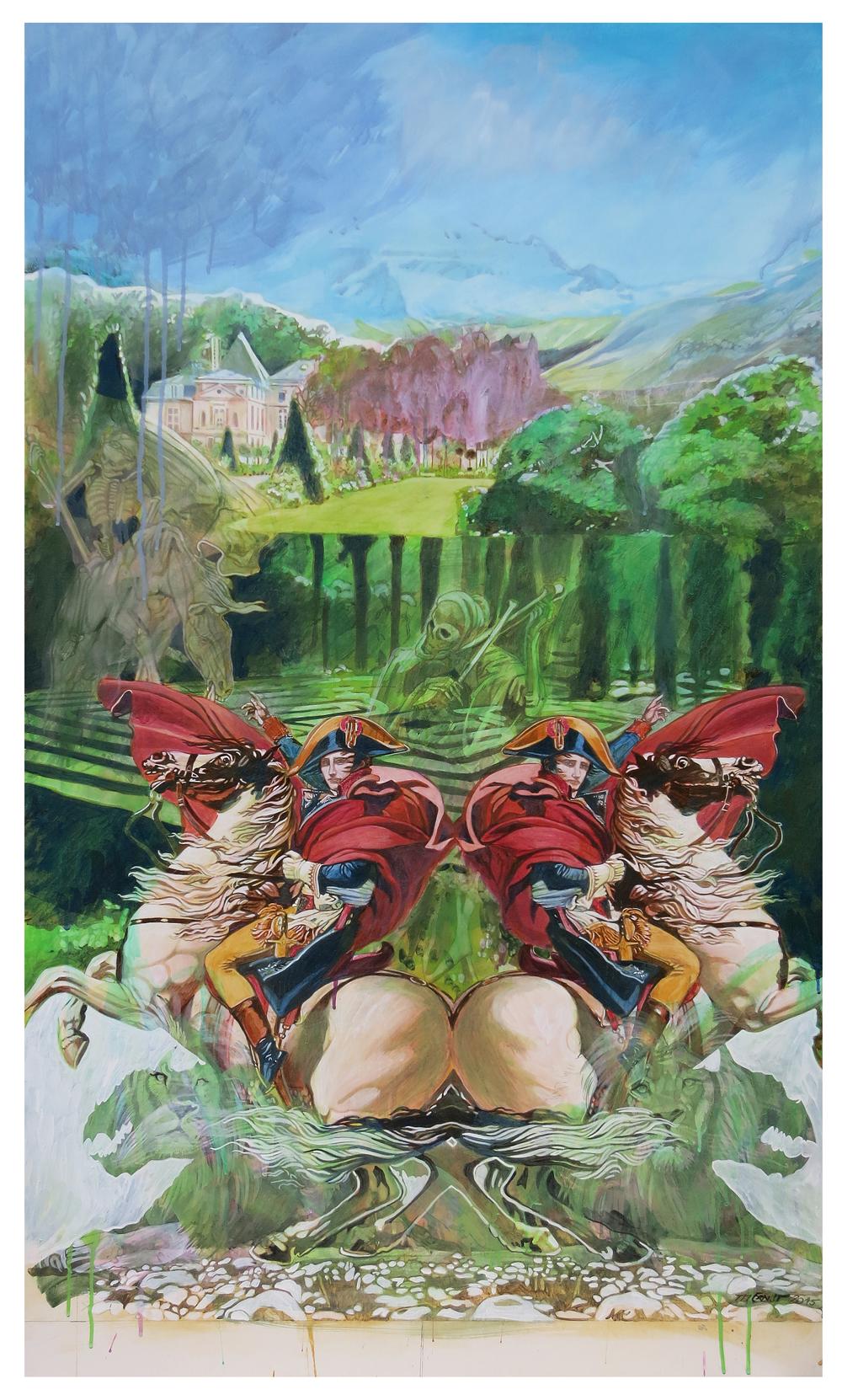 napoleon – Eitempera auf Kreidegrund auf Holzrahmen, 135 x 80 cm, 2015