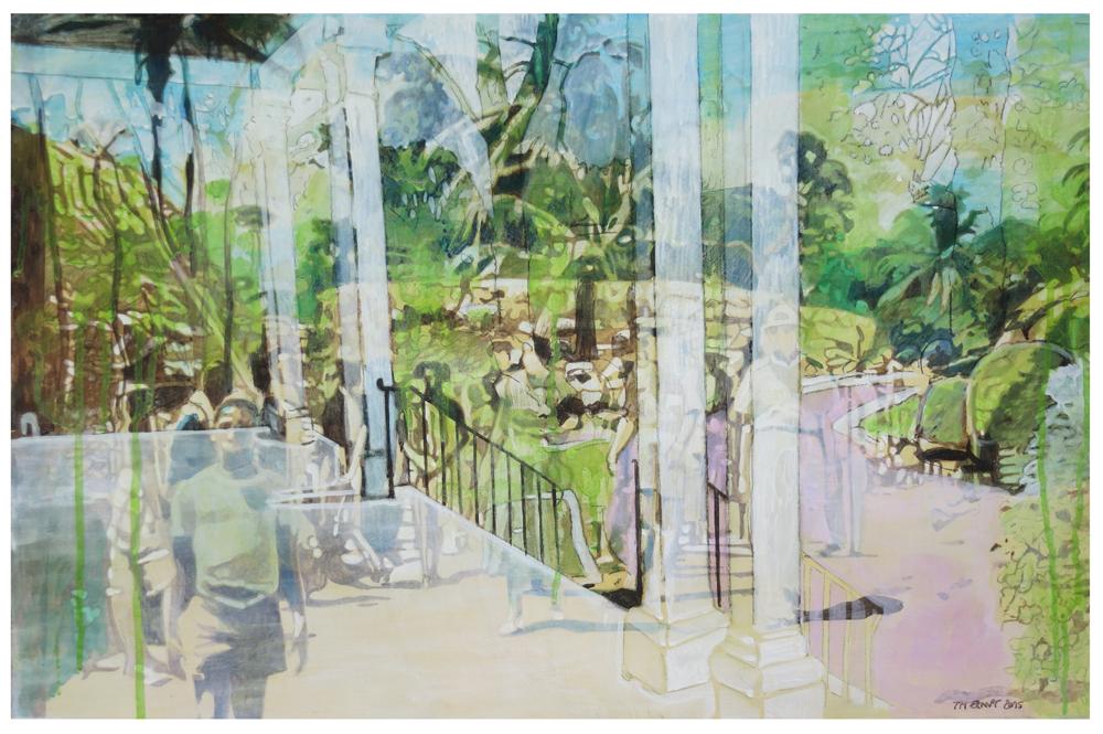veranda 01 – Eitempera auf Kreidegrund auf Holzrahmen, 40 x 61 cm, 2015