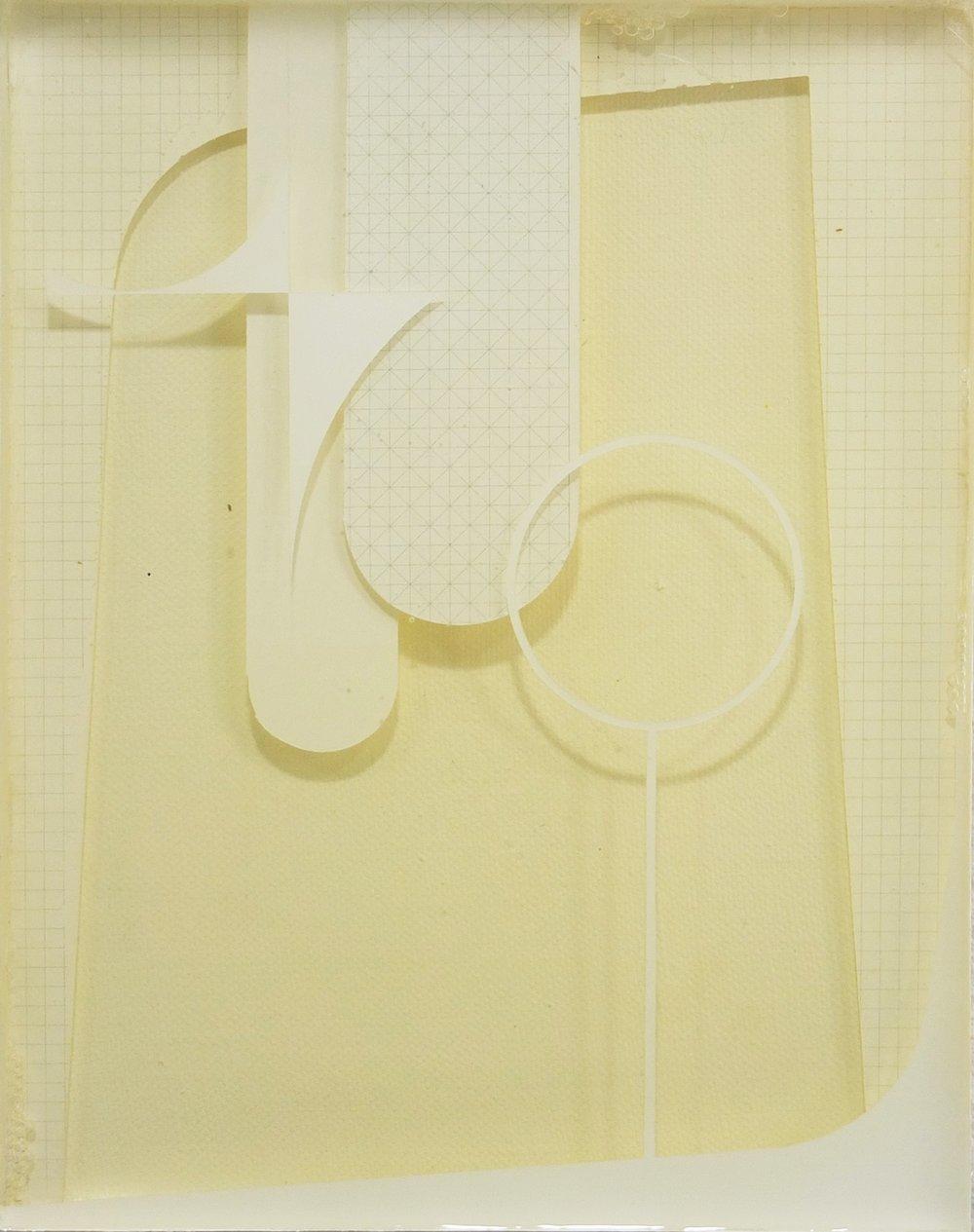 Sebastian Menzke, quiet 8-, 26 x 21 cm, Vinylfarbe, Transferdruck und Gießharz auf Leinwand geschichtet, Kunstsammlung Neubrandenburg