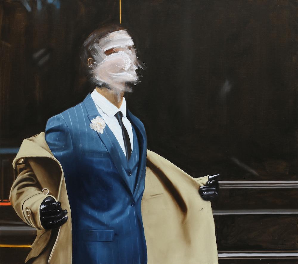 ©Thomas Riess, Erkennungszeichen, 2017, 115 x 130 cm, Öl auf Leinwand