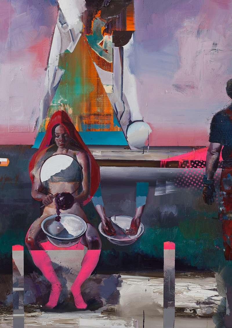 Heil (Ausschnitt), 300×200cm,Oil/Canvas, 2016