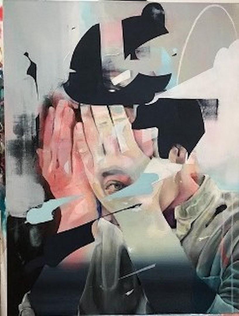 Der Schummler  2018, 60 x 80 cm Acryl auf Leinwand 🔴  VERKAUFT