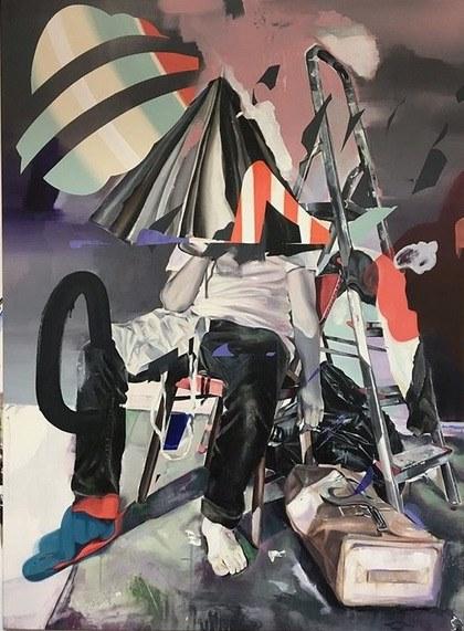 Keine Zeit fuer Fastfood  2018, 110 x 150 cm Acryl auf Leinwand  5.460 €