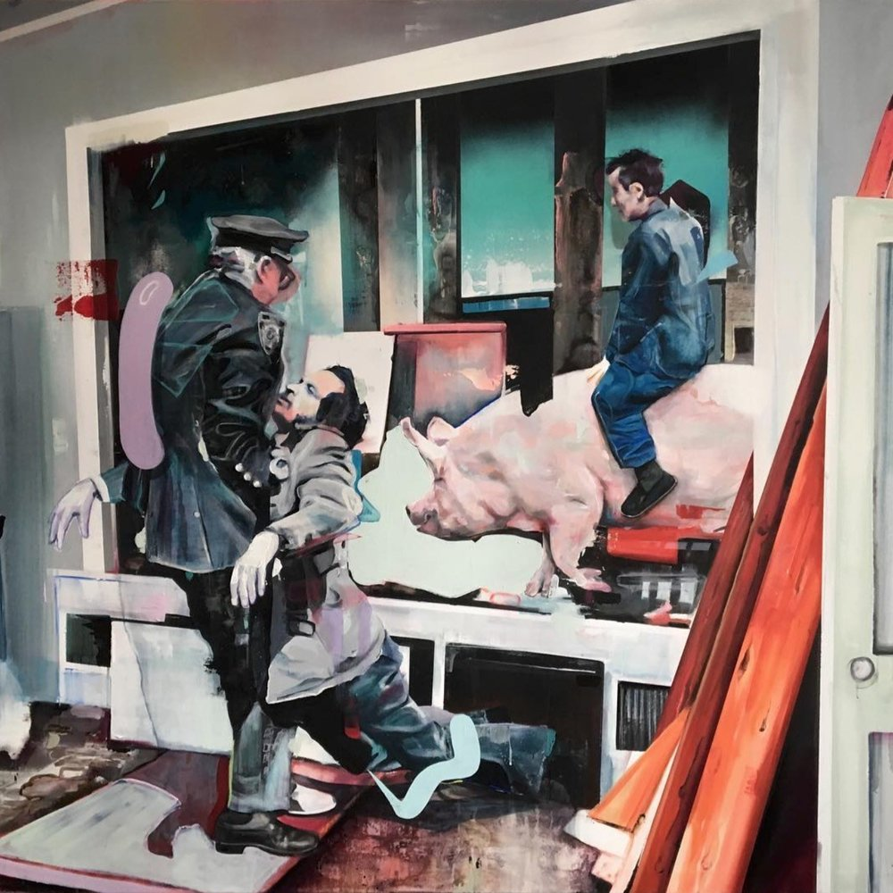 Riesen Sauerei  2019, 160 x 190 cm Acryl auf Leinwand  7.350 €