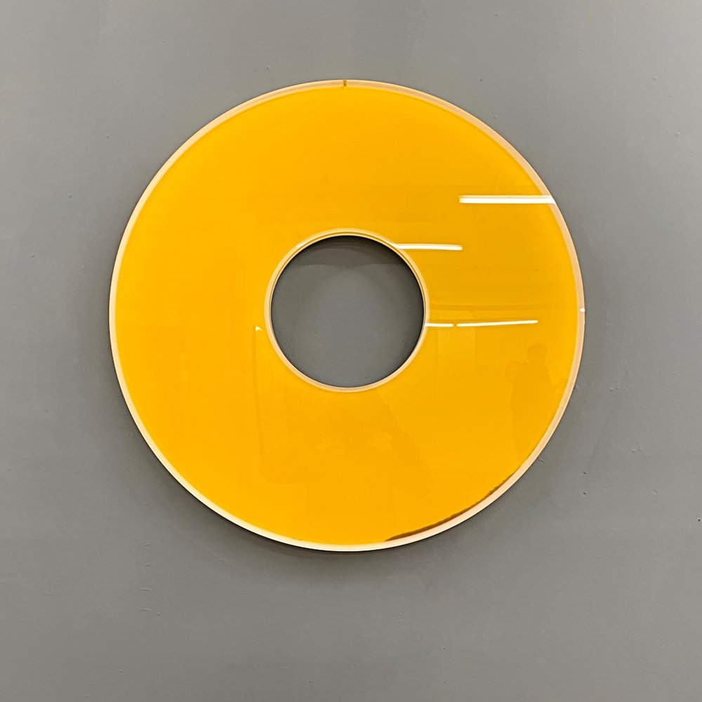 Sonnenscheibe, SonnenscheibeOlivenöl, AcrylØ 70 cm, 2017,  Preis siehe Preisliste