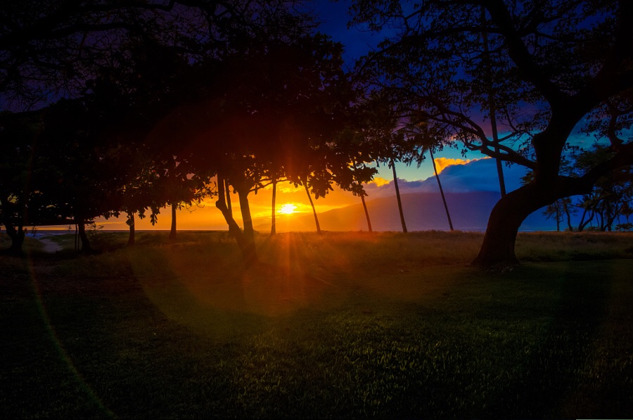 A magical view to end the day with in Kiehi on Maui.