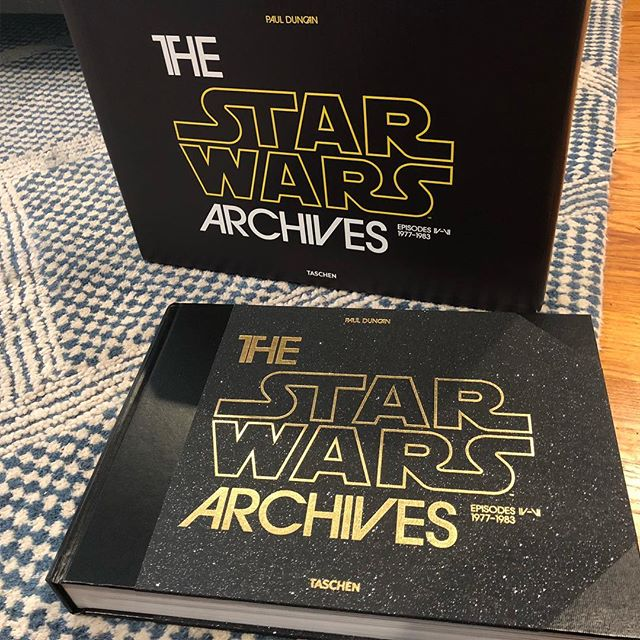 Christmas continues. What a gorgeous book. #tashen #starwars #thestarwarsarchives