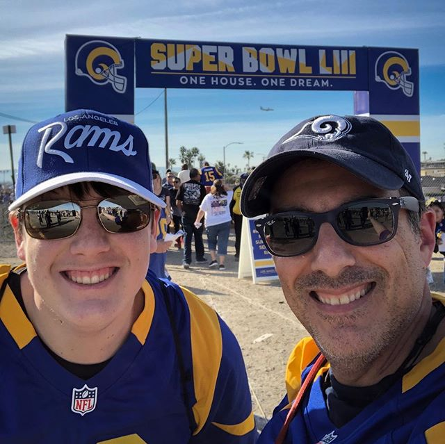 Giving the #larams a proper sendoff to #superbowl victory at the future sight of Who's House?#ramshouse Go Rams!!!