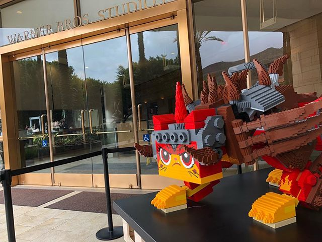 I feel safe knowing Unikitty is guarding our building. #thelegomovie2