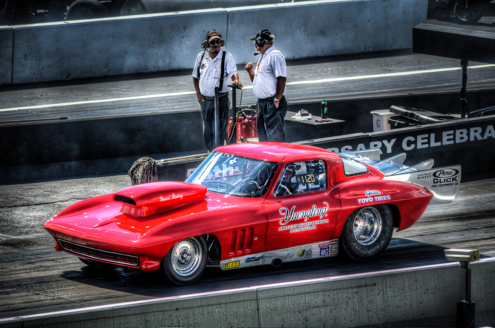 Little Red Corvette at Maple Grove Raceway