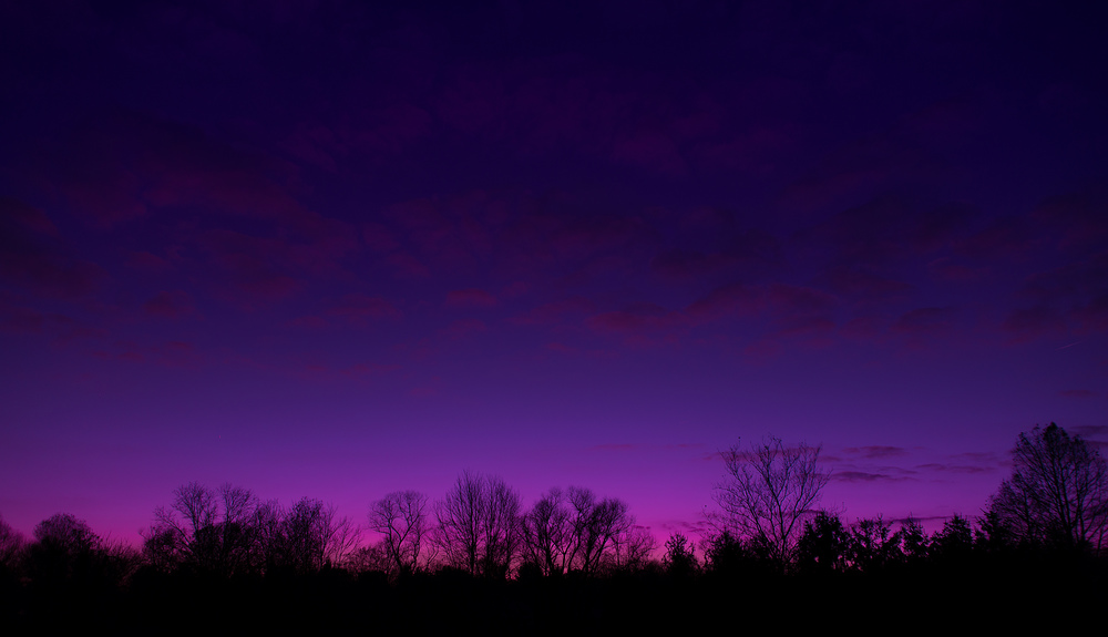 Purple to Dark Blue Sunset