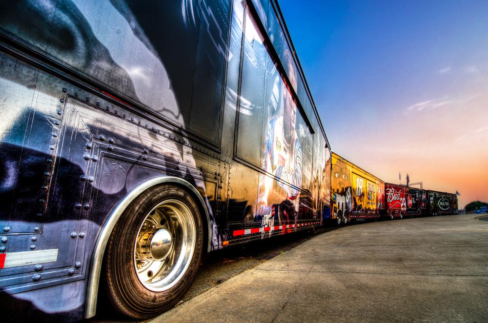 Charlotte Motor Speedway trailers