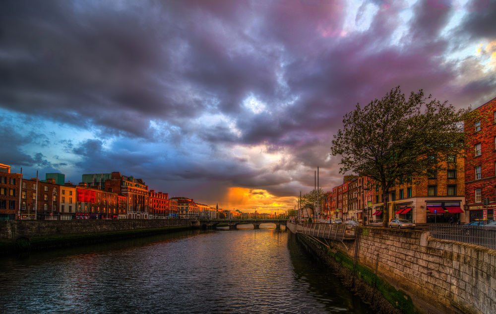 Grattan Bridge Dublin Ireland