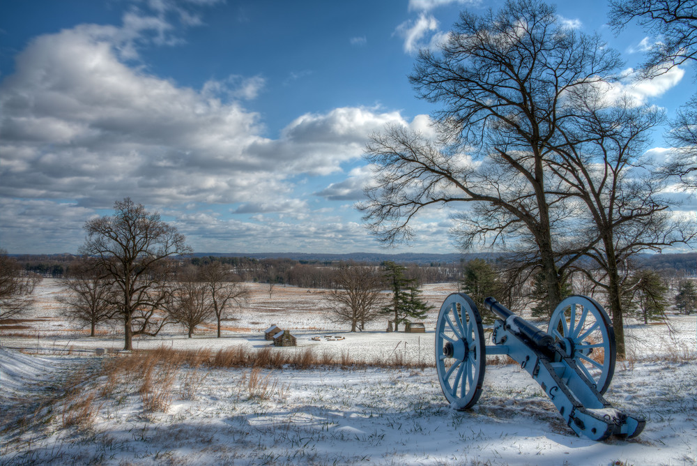 Valley Forge National Historic Park in Wintertime