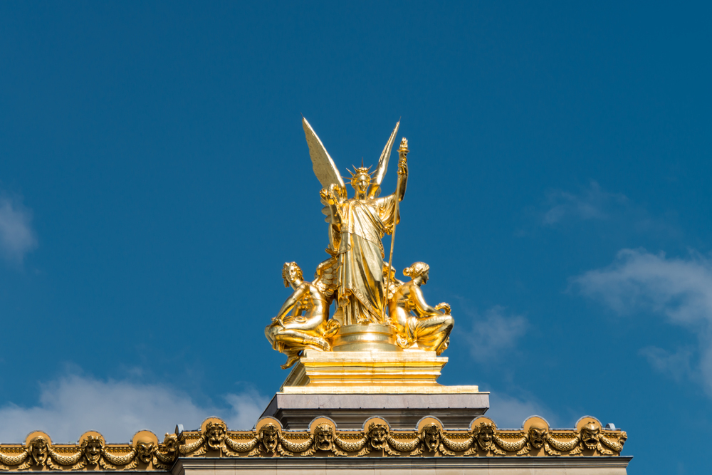 La Poesie (Poetry) atop the Paris Opera House
