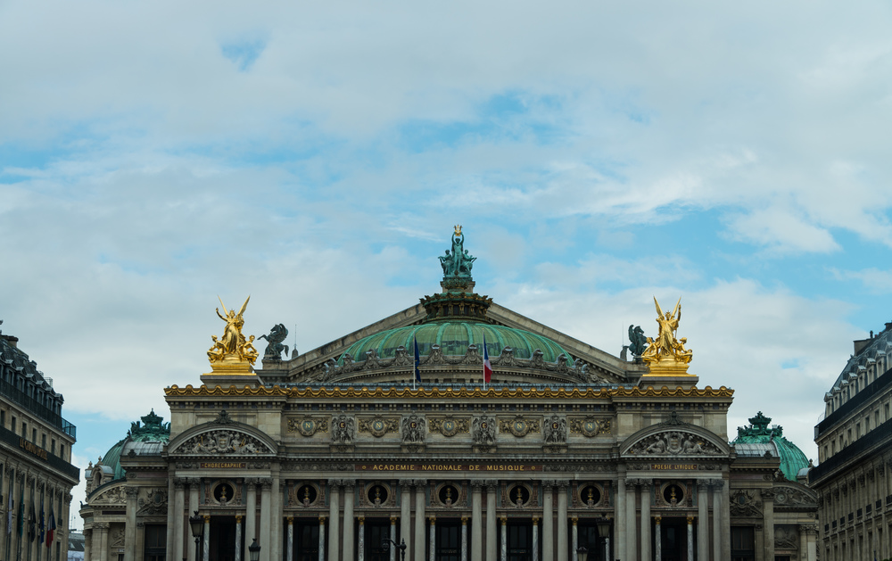 Paris Opera house skyline