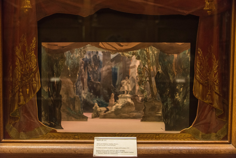 Diorama of the 1875 performance of Mozart's Don Juan