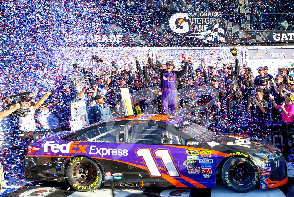 Congratulations to Denny Hamlin, Joe Gibbs Racing, FedEx, and Toyota!