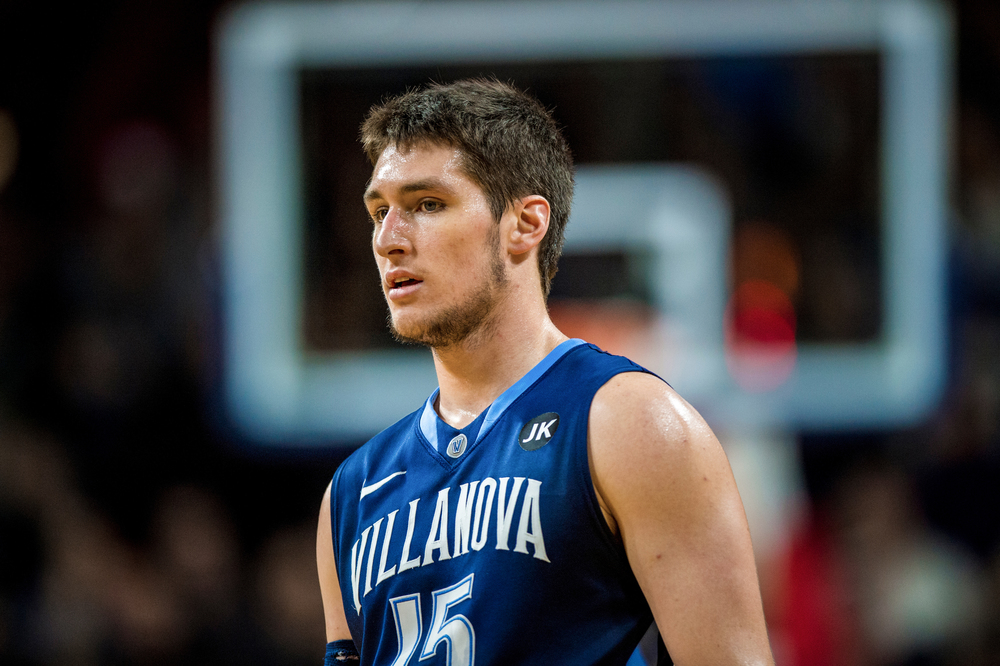 17 Jan 2015: Villanova Wildcats guard Ryan Arcidiacono (15) ready for action during the NCAA Mens Basketball game between the Penn Quakers and the Villanova Wildcats played at the Palestra in Philadelphia, PA