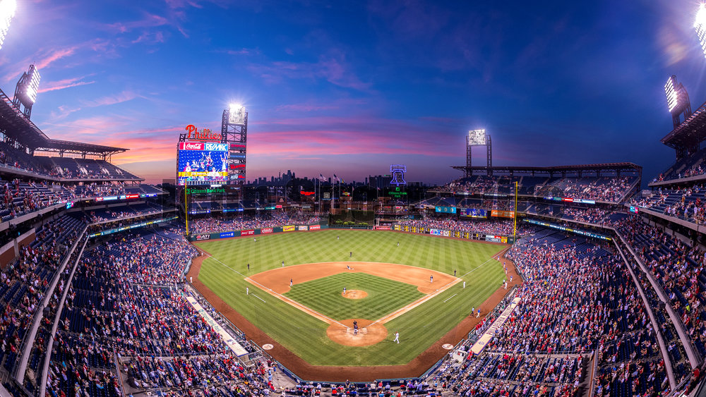 5 July 2016: A general view of the game during the Major League Baseball game between The Atlanta Braves and the Philadelphia Phillies played at Citizens Bank Park in Philadelphia, PA. (Photo by Gavin Baker/Icon Sportswire)