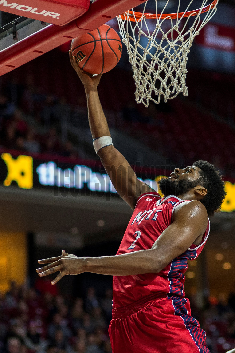 PHILADELPHIA, PA - DECEMBER 17: N.J.I.T Highlanders guard Tim Coleman (2) arcs in his shot during the game between the NJIT Highlanders and the Temple Owls on December 17, 2016 at the Liacouras Center in Philadelphia PA. (Photo by Gavin Baker/Icon Sportswire)