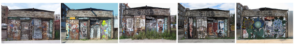 """The Bushwick Evolution 2005-2012"" Archival print  11x63"""