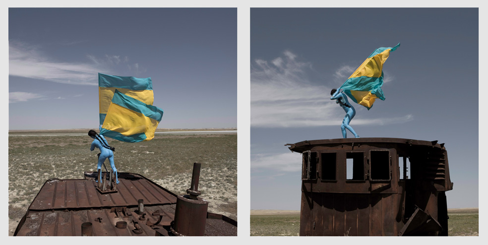 Aral revival_01, Aral sea, Kazakhstan, 2013_by © Sarah Trouche_One part of a diptich photograph, Archival ink jet 2x 95.5cm x 95.5cm. Edition of 5 Plus 2 AP