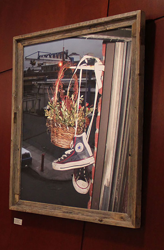 """Shoes on Bogart_Welcome and Goodbye"""" by Rafael Fuchs 2009. 20x39"" Edition 1/15. price: $1,500. SALE: Over (including stressed wood frame)"