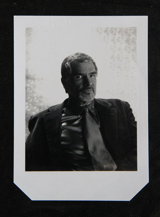 """Burt Reynolds_1"" by Rafael Fuchs.Unique 4x5"" Polaroid.Price: $750. SALE: over"