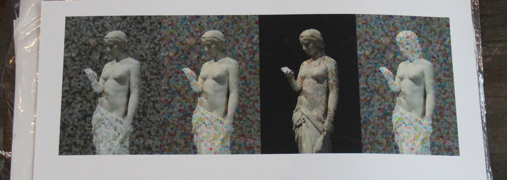 """The New Religion x4"" by Rafael Fuchs 2015. Archival giclee on Hehnemuhle. 10x24"" Edition 2/7. Price: $950. SALE: over"