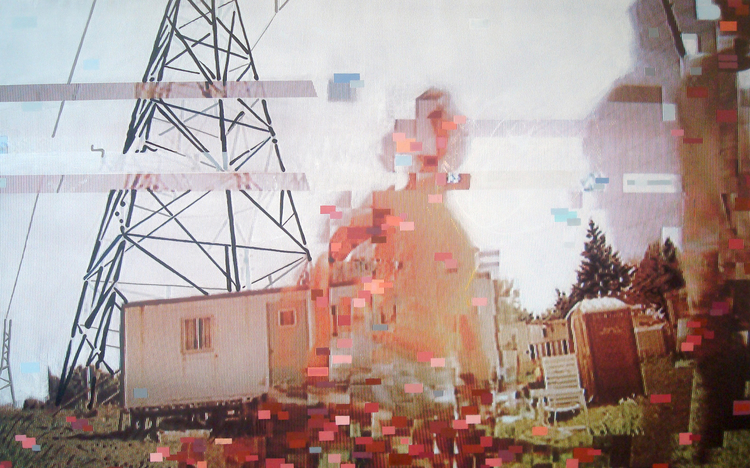 """Under the Wire"", 2015 Photo and Acrylic on Canvas. 34""x20"""