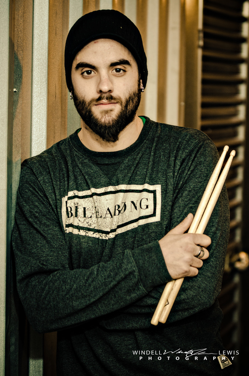 Kyle Oneil, drummer in the band I Said Farewell