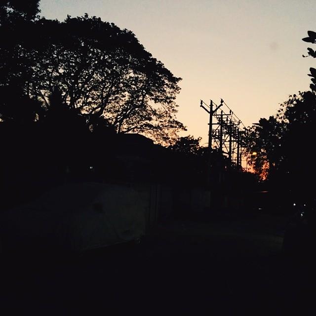 Suburban sunsets.