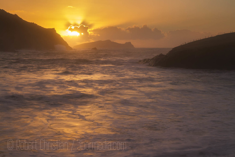 Sunset at Clogher Strand.