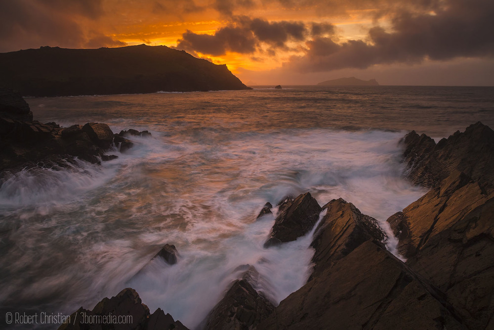 Sunset from Clogher Head