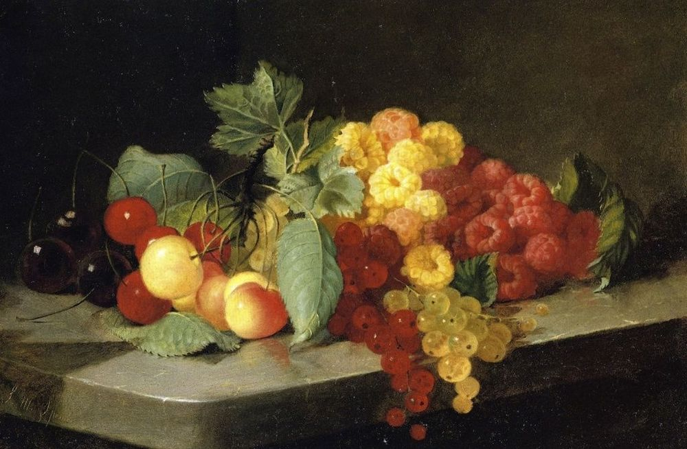 Still Life with Berries and Currants  (!859 - 1860)