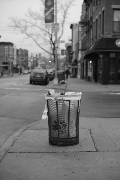 Umbrella In Trash - Long Island City