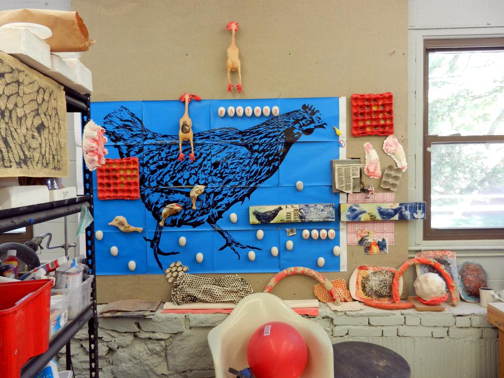 Factory Farm Installation - studio study