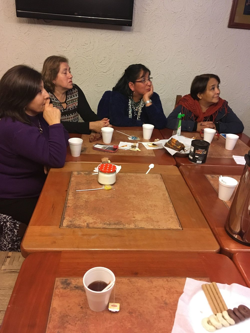 Meeting with ladies from church.
